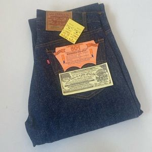 NOS 1984 Levi's 501 Button Fly Red Tab Denim Jeans
